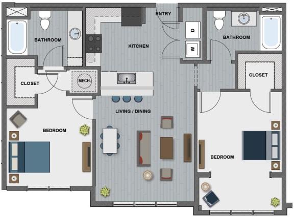 Floor Plan  Hopper Floor Plan at The Edison at Riverwood, Hermitage, TN, 37076