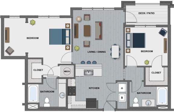 Floor Plan  Lamarr Floor Plan at The Edison at Riverwood, Hermitage, 37076