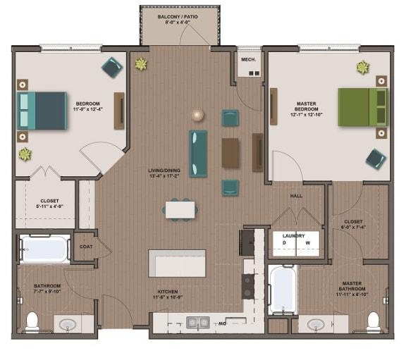 Floor Plan  TESLA II FloorPlan at The Edison at Spirit, Lakeville, MN