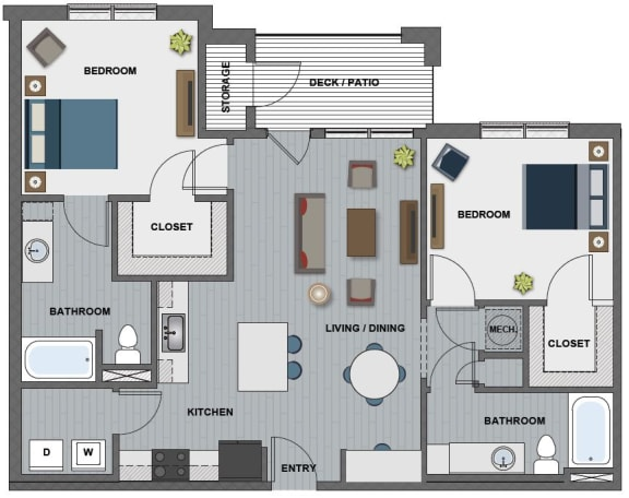 Floor Plan  Whitney II Floor Plan at The Edison at Riverwood, Tennessee, 37076