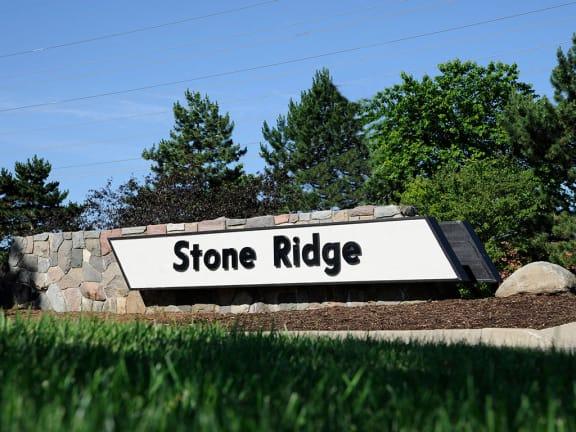 Entrance Sign at Stone Ridge, Wixom, 48393