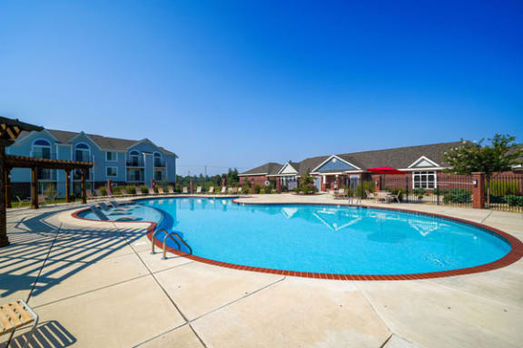 Resort Style Pool with Sundeck at Chase Creek Apartment Homes in Huntsville, AL 35811