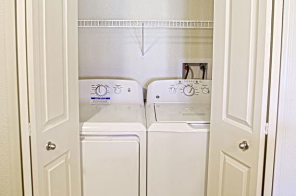 Convenient Full Size Washers and Dryers at Chase Creek Apartment Homes in Huntsville, AL 35811