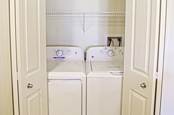 Full Size Washer and Dryer at Dodson Pointe Apartment Homes in Rogers, AR
