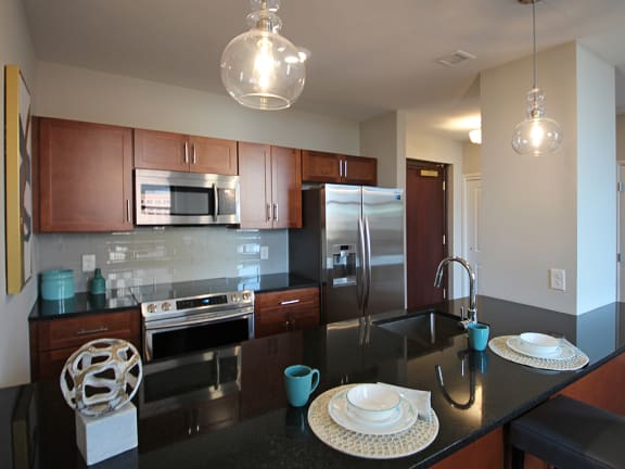 Granite Counter Tops In Kitchen at The Terminal Tower Residences, Cleveland