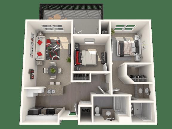 Floor Plan  Eastlake - two bedroom two bathroom unit at FountainGlen Temecula