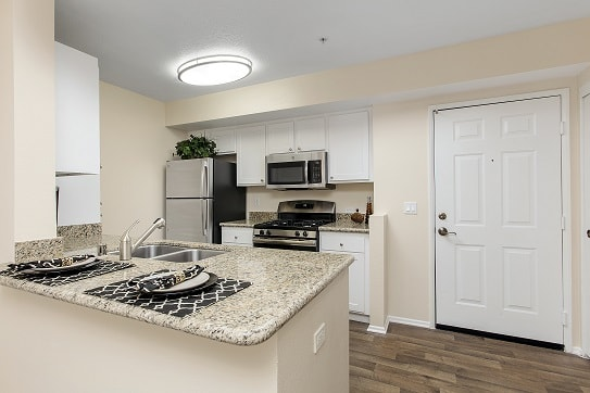 Fully Equipped Kitchen In Clubhouse at 55+ FountainGlen Pasadena, Pasadena, California
