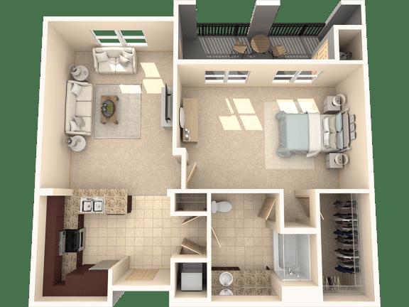 Floor Plan  Juniper Floor Plan at 55+ FountainGlen  Jacaranda, Fullerton, California