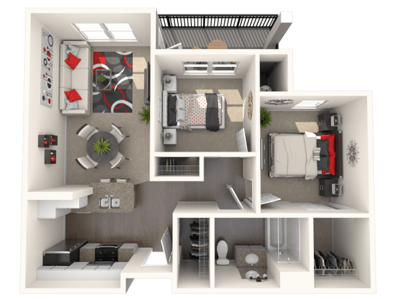 Floor Plan  McIntosh - Two bedroom apartment at  FountainGlen Temecula