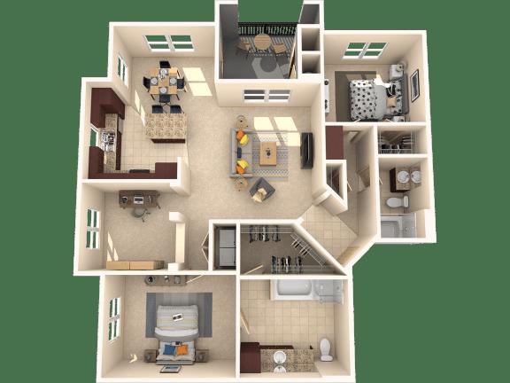 Floor Plan  Sequoia Floor Plan at 55+ FountainGlen  Jacaranda, Fullerton