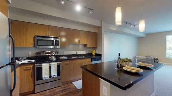 Waterscape at Juanita Village Apartments Kitchen