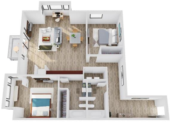 Floor Plan  SavierStreetFlats_FloorPlan_B2