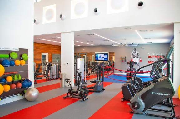 The fitness machines inside The Harbor's Activity Center.
