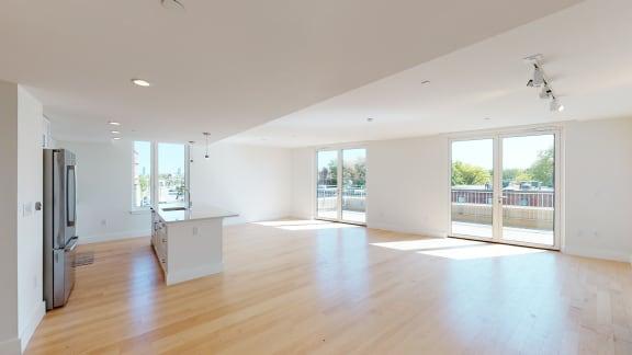 Spacious Living Room at Saint James Place, Cambridge, Massachusetts