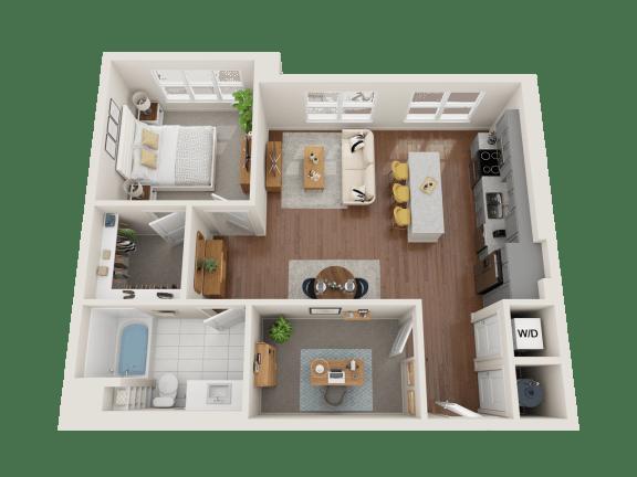 Floor Plan  Aster Floor Plan at PARK40, Colorado, 80023
