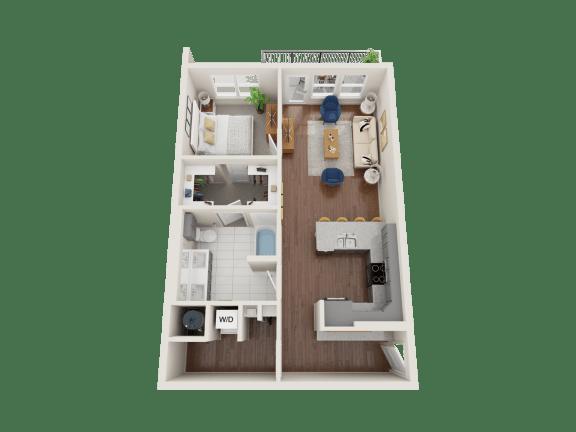 Floor Plan  Beebalm Floor Plan at PARK40, Broomfield, CO, 80023