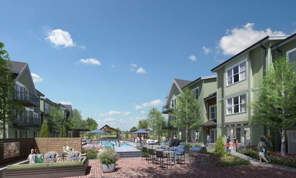 Oversized pool & spa. With the perfect entertaining spaces at PARK40, Broomfield, 80023