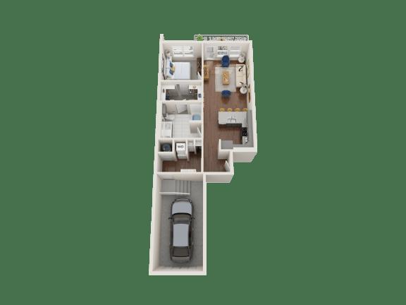 Floor Plan  Iris Floor Plan at PARK40, Broomfield, CO