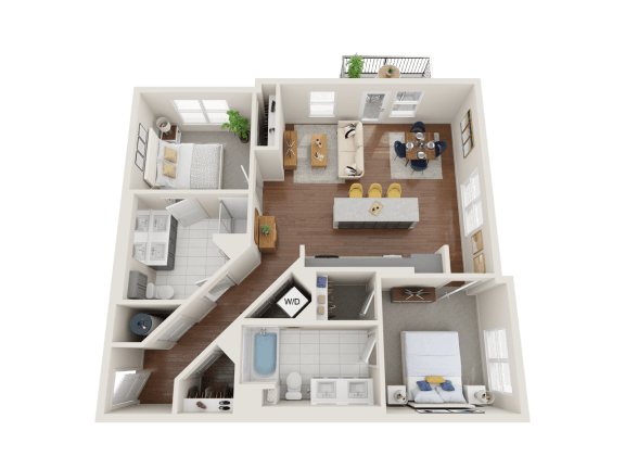 Floor Plan  Peony Floor Plan at PARK40, Colorado, 80023
