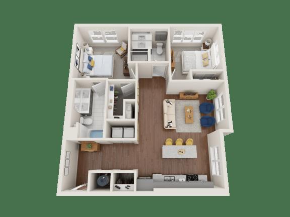 Floor Plan  Shasta Floor Plan at PARK40, Broomfield