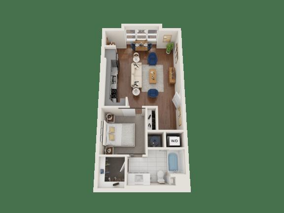 Floor Plan  Wallflower Floor Plan at PARK40, Broomfield, Colorado