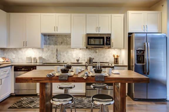 model kitchen with white finish