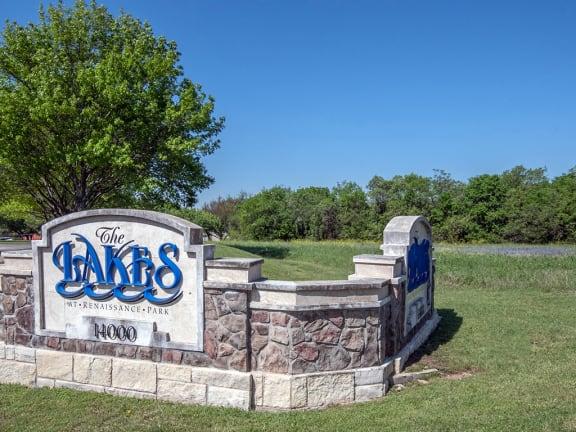 Lakes at Renaissance Park sign