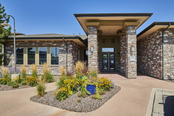 Acadia at Cornerstar Apartments - Leasing office entryway