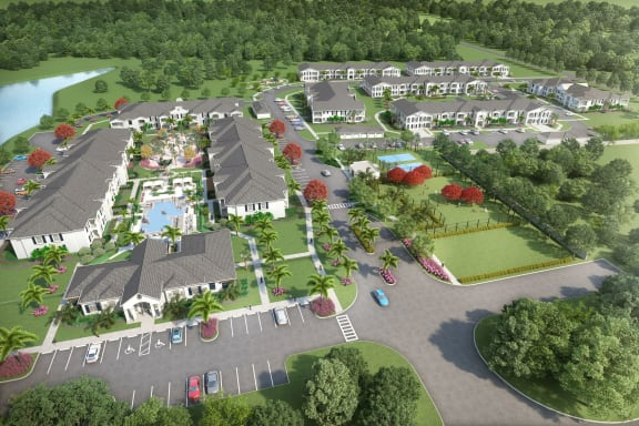 Aerial View Of The Community at The Crest at Naples, Florida