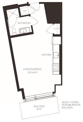 Floor Plan  VISC1 Floor Plan at Via Seaport Residences, Massachusetts