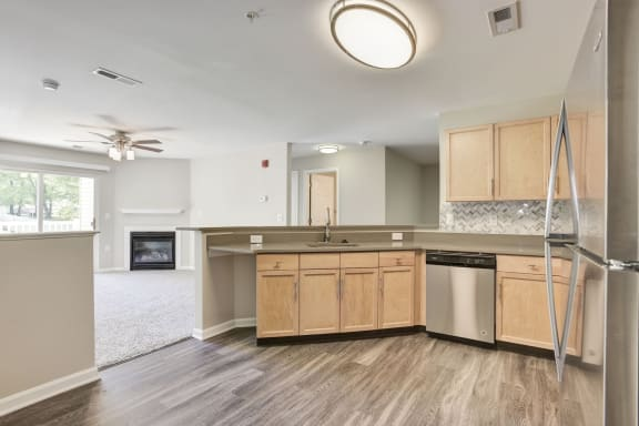 Floor Plan  Fully Furnished Kitchen at Owings Park Apartments, Owings Mills, Maryland