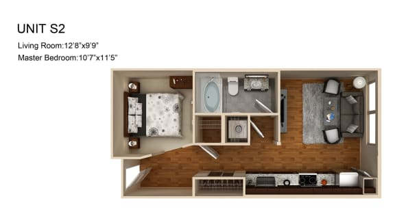 Floor Plan  0 Bed 1 Bath Floor Plan at Liberty Mill, Germantown