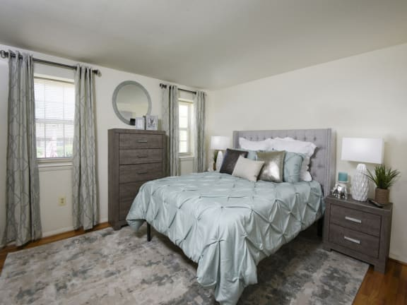 Large master bedroom with huge closets