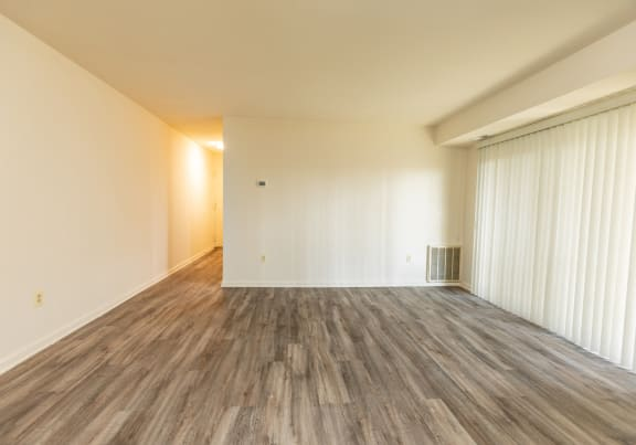Updated plank flooring at Windsor House Apartments in