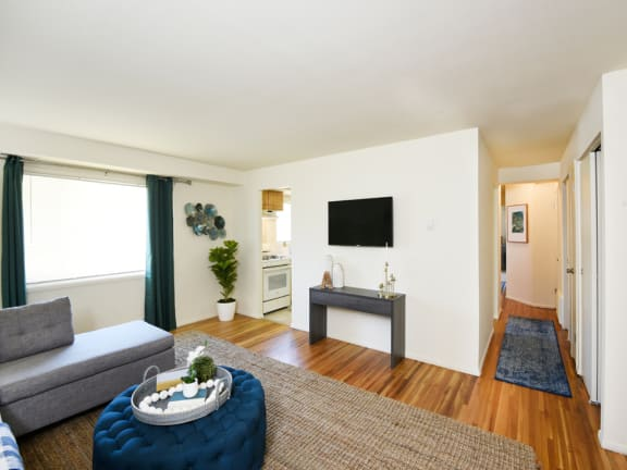 Open and spacious living room at Arbuta Arms