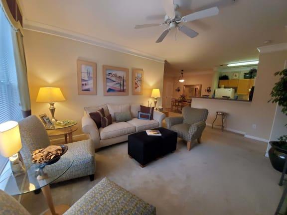 Living room at Longwood Vista in Doraville GA