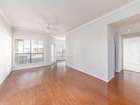 open concept flooring Parkway Senior Apartments in Pasadena TX