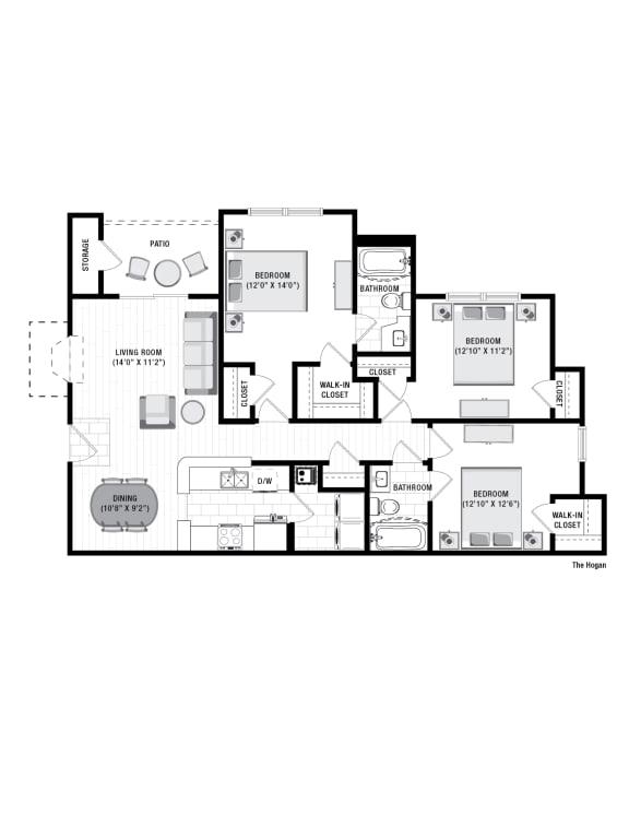 Floor Plan  Reserve at Wescott Hogan Floor Plan