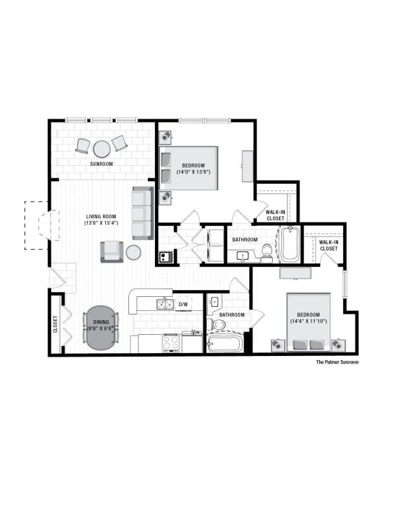 Floor Plan  Reserve at Wescott Palmer Sunroom Floor Plan