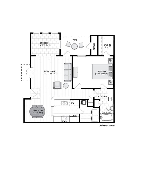 Floor Plan  Reserve at Wescott Woods Sunroom Floor Plan