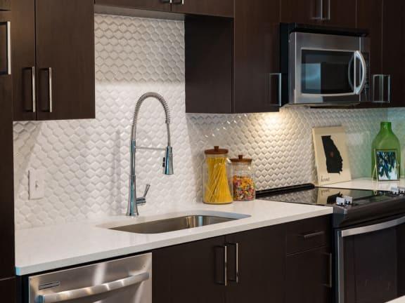 Quartz Countertops at Millworks Apartments, Atlanta, 30318