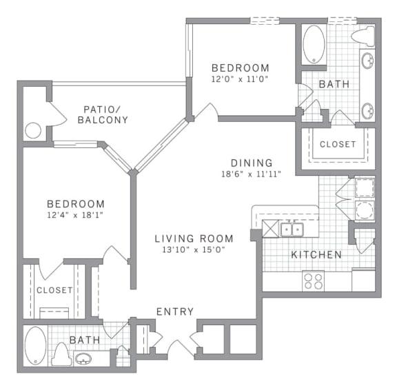 Floor Plan  B3 Floor Plan at AVE Clifton, Clifton, New Jersey