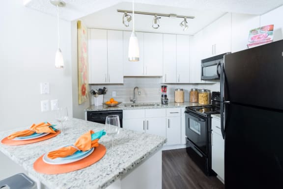 Upgraded Kitchen With Granite Countertops at Uptown Buckhead, Atlanta, GA, 30342