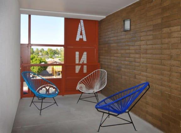 Breezeway at El Rancho Del Arte Apartments in Mesa AZ