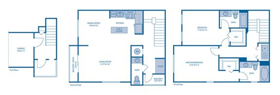 Floor Plan  B3 Floor Plan at Horizon at Miramar, Miramar, FL, 33025