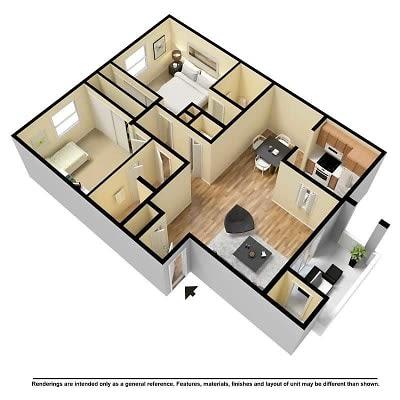 Floor Plan  2 Beds 2 Bath