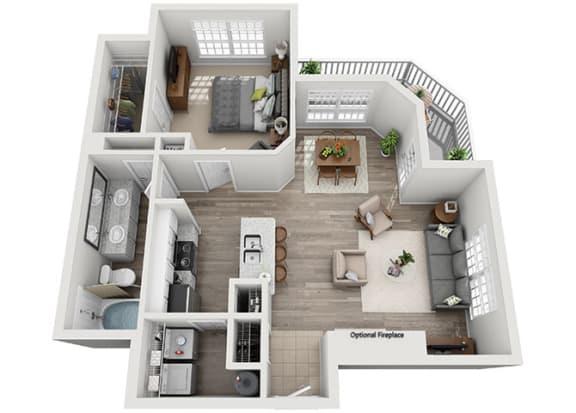 Floor Plan  A2.1a Floor Plan at Addison Park, Charlotte, NC