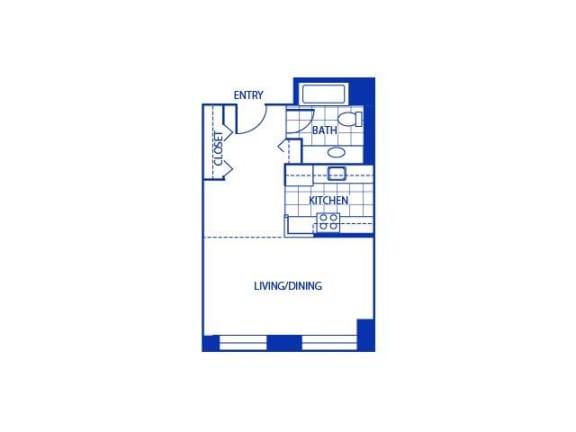 Studio Floor Plan  Bigelow Commons
