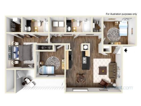 Floor Plan  Evergreen Floor Plan |Cypress Gardens