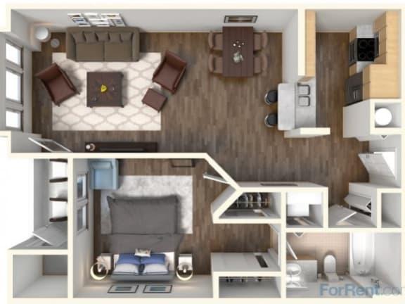 Floor Plan  A-2 794 Floor Plan  Faxon Woods